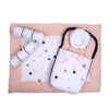 Baby Carry Printed Nest 5 PCs - White/Pink (2286)