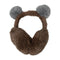 Fancy Foldable Earmuff For Kids - Brown (EM-124)