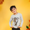 Bulb Sequin T-Shirt For Boys - Grey (BTS-14)