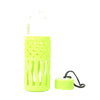 Fancy Glass Water Bottle 380ml - Green (SB3217)