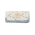 Printed Flower Pencil Pouch - Blue/White (5003)