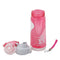 Sports Stylish Water Bottle For Kids 500ml - Pink/White (141-2)