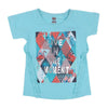 Live In The Moment T-Shirt For Girls - Sea Green (7926)