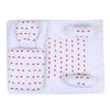 Heart Emb Baby Carry Nest 5 Pcs - White (6497)