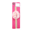 Fancy Crown Pearl Frill Headband - Peach (HB-47)