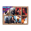 Wonder Woman Wall Art Sticker Set - 8 PCs (08849)
