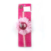 Fancy Jireh Bow Crown Frill Headband - Pink (HB-101)