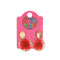 Transparent Sunflower Earrings For Girls - Orange (13539-92)