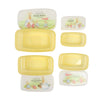 Bobby Rabbit Lunch Box 4 PCs - Yellow (1416)