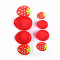 Strawberry Shape Lunch Box 4 PCs - Red (S1303)