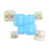 Bobby Rabbit Lunch Box 4 PCs - Blue (1417)