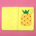 Pine Apple Furr Diary For Kids - Yellow (DRY-24-A5-1)