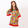 Awesome Swag 1 Pc Unstitched Kurti For Girls - Red (LWN-02)