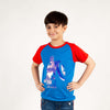 Captain America Printed T-Shirt For Boys - Red/Blue (BS-06)