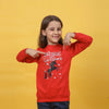 Unicorn Sequin Sweat Shirt For Girls - Red (GST-14)