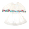 Sequin Emb Top For Girls - White (4226)