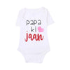 Papa Ki Jaan Romper For Infants Unisex - White (UR-01)