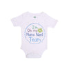 I AM On My Nana Nani Team Romper For Infants Boys - White (UR-07)