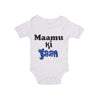 Mamu Ki Jaan Romper For Infants Boys - White (UR-10)