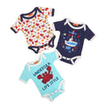 Undersea Crab Romper For Boys - Pack Of 3 (001)