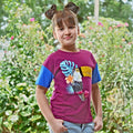 Sequin Bird T-Shirt For Girls - Maroon (IGTM-02)