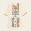 Embroidery Balochi Kurti For Girls- Off White (GK-001)