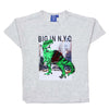 Dinosaur Sequin T-Shirt For Boys - Light Grey (BTS-38)