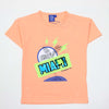 Sequin Miami T-Shirt For Boys - Light Peach (SM-T01)