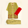 Fancy Net Eastern 3Pcs Suit For Girls - Green (E3PC-10)