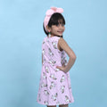 Unicorn Printed Frock For Girls - Purple (1669)