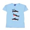 Sequin Sharks T-Shirt For Infant Boys -Sky Blue (SS-TI01)