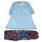 Printed Chiffon 2 Pcs Suit For Girls - Sky Blue - (PC-003)
