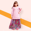 Printed Chiffon 2 Pcs Suit For Girls - Lilas - (PC-002)