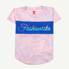 Fashionista Printed T-Shirt For Girls - Pink (GT-F16)