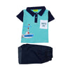 Blue Sea 2 Pcs Suit For Infants Boys (I2P-05)
