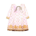 Fancy Eastern 2 Pcs Printed Suit For Girls - Cream - (PS-02)