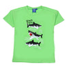Sequin Sharks T-Shirt For Infant Boys - Light Green (SS-TI02)