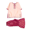 Fancy Embroidery Eastern 2Pcs Suit For Infant Girls - Magenta (E2PC-12)
