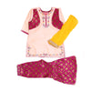 Fancy Embroidery Eastern 3Pcs Suit For Girls - Magenta (E3PC-12)