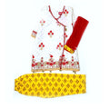Fancy Embroidery Net Eastern 3Pcs Suit For Girls - Red/White (E3PC-12)
