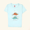 Dinosaur Be Cool Printed T-Shirt For Boys - Skylight Blue (BS-04)