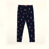 Stylish Ice Cream Cone Printed Tights For Girls - Dark Blue (GT-001)
