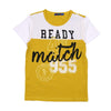 Ready For Match T-Shirt For Boys - Mustard (BM5-2027)