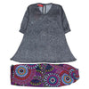 Printed Chiffon 2 Pcs Suit For Girls - Grey - (PC-004)