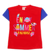 Summer Paradise T-Shirt For Girls - Red (GT-SP02)