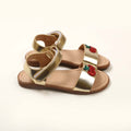 Cherry Shiny Strap Sandals For Girls - Gold (0910-11)