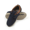 Fancy Laces Sneakers For Boys - Navy/Brown (JS-166A)