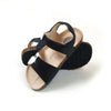 Fancy Strap Style Sandals For Boys - Black/White (DES-6)