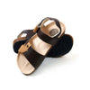 Fancy Strap Style Sandals For Boys - Coffee/Beige (DES-6)