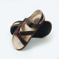 Cross Style Sandals For Boys - Brown (DES-4)